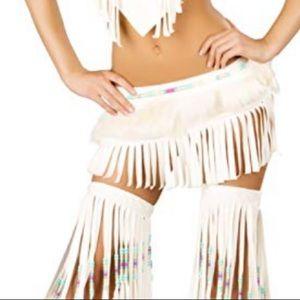 Dresses & Skirts - Boho wolf fur skirt rave costume festival sexy